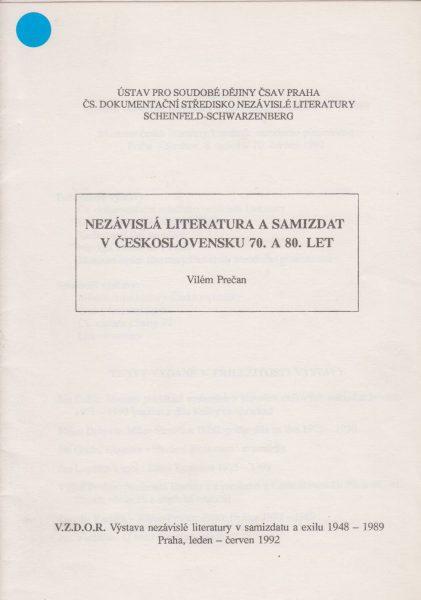 Nezávislá literatura a samizdat v Československu 70. a 80. let