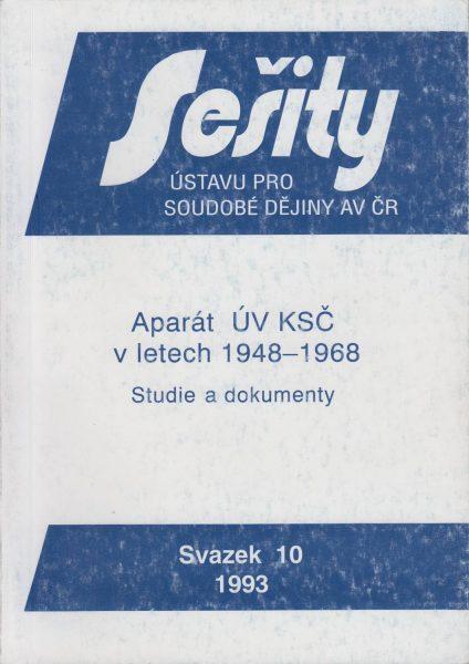 Aparát ÚV KSČ v letech 1948–1968. Studie a dokumenty