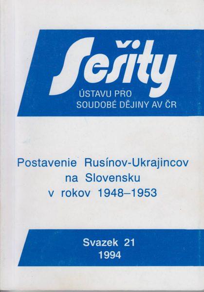 Postavenie Rusínov-Ukrajincov na Slovensku vrokoch 1948–1953