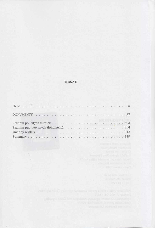 Obsah 1