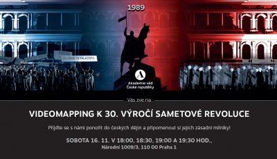 Videomapping k 30. výročí 17. 11. 1989