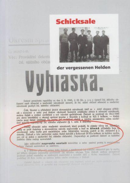 Schicksale der vergessenen Helden. Geschichte der deutschen Antifaschisten aus der ČSR