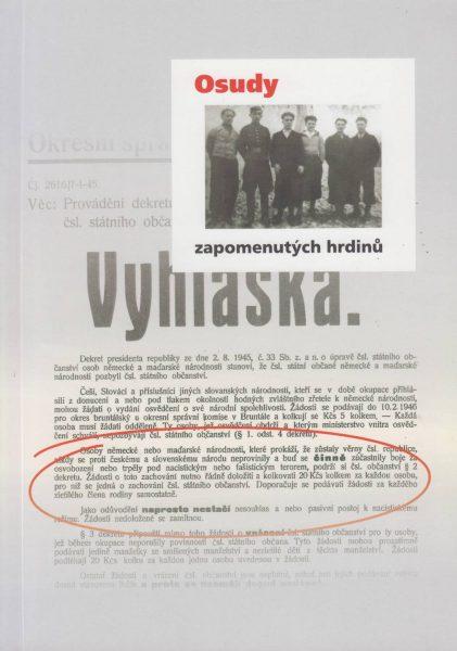 Osudy zapomenutých hrdinů. Příběhy německých antifašistů z ČSR