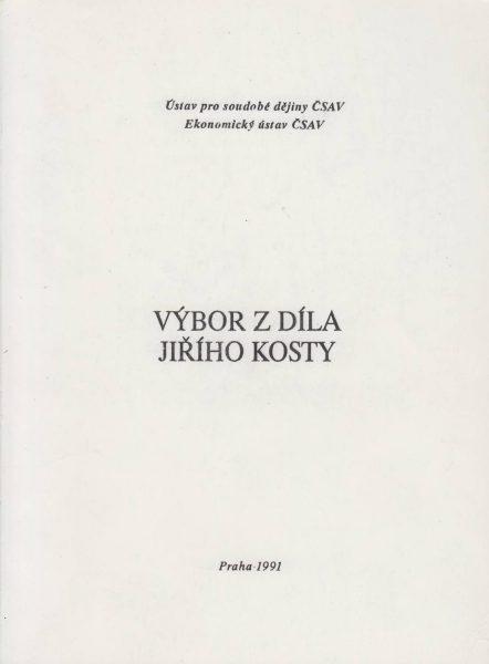 Výbor z díla Jiřího Kosty