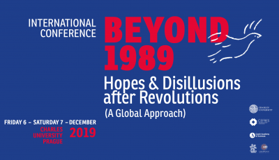 BEYOND 1989. Hopes and Disillusions after Revolutions (A Global Approach)