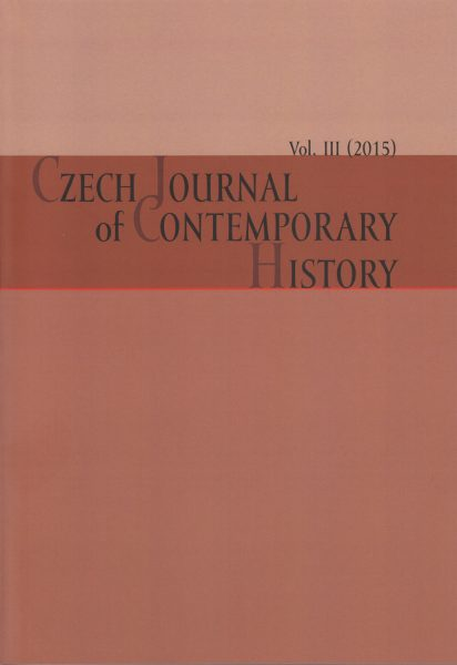 Czech Journal of Contemporary History 3 / 2015