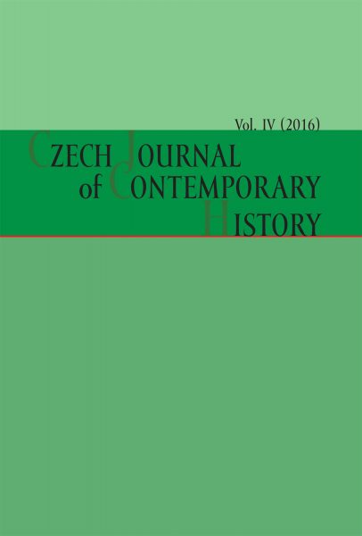 Czech Journal of Contemporary History IV / 2016