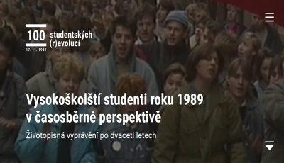 Nový tematický web 100 studentských (r)evolucí