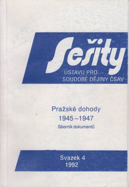 Pražské dohody 1945–1947. Soubor dokumentů