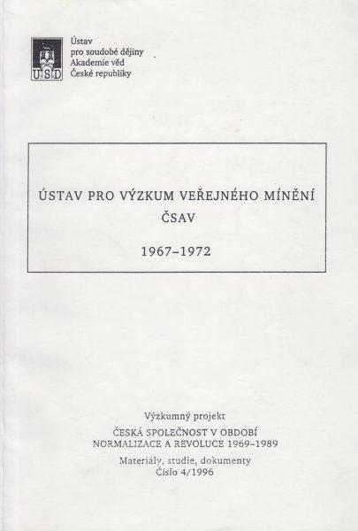 Ústav pro výzkum veřejného mínění ČSAV 1967–1972