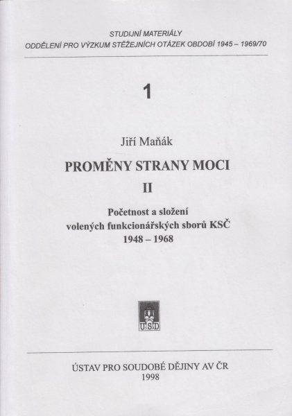 Proměny strany moci (2). Početnost a složení volených funkcionářů sborů KSČ 1948–1968
