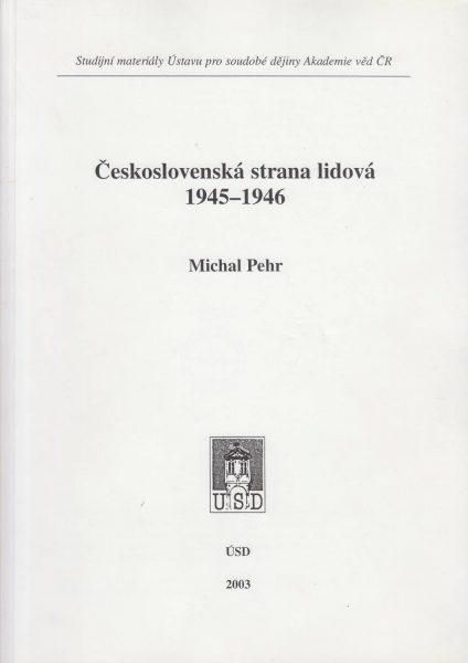 Československá strana lidová 1945–1946