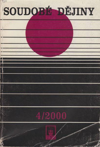 Soudobé dějiny 4 / 2000