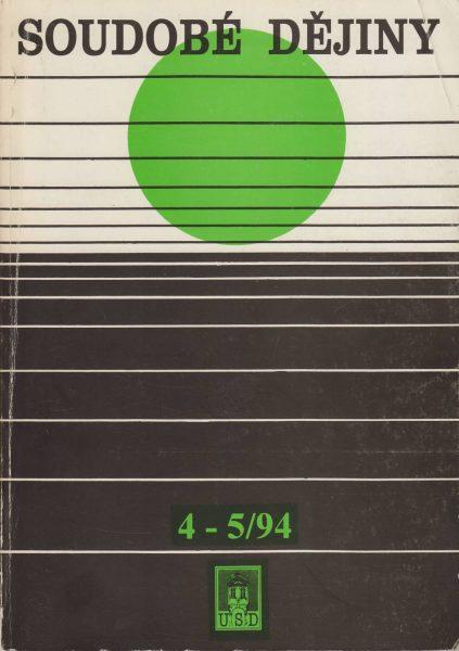Soudobé dějiny 4-5 / 1994